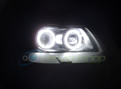 View Item BMW 3 SERIES E90 E91 05-08 LED ANGEL EYE PROJECTOR HEADLIGHTS SUPER BRIGHT SMD