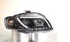 View Item AUDI A4 B7 04-08 BLACK LIGHTBAR STYLE DRL PROJECTOR HEADLIGHTS