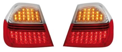 View Item BMW 3 Series E90 05-08 Red/Clear LED rear Tail lights