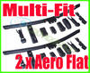 View Item Pair Aero Flat Wiper Blades 24 19 600mm 480mm To Fit Audi Skoda Yeti 2009+