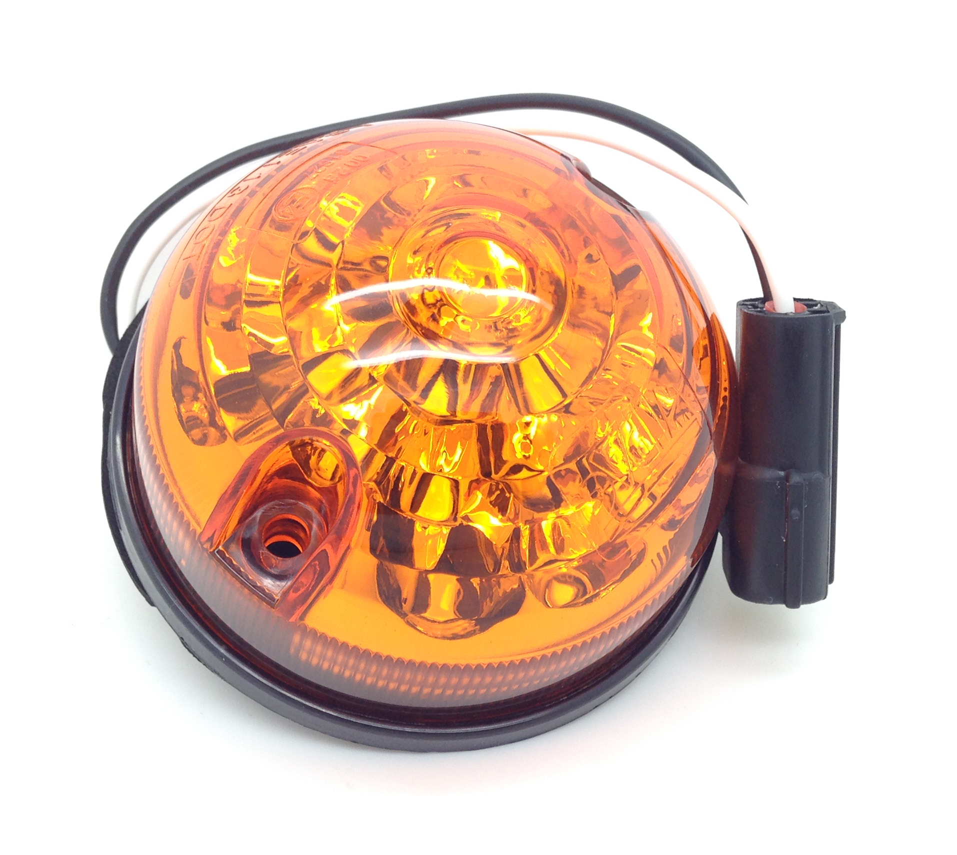 Pair Of Clear Front Indicator Lights For Land Rover: Land Rover Defender Series 88,90,109,110 LED Amber Front