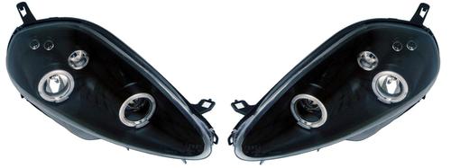 Fiat Grande Punto Black Angel Eyes Projector Headlights