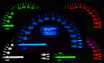 BLUE LED DASH/SPEEDO KIT NISSAN MICRA K11 93-03