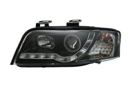 AUDI A6 01-04 DRL HEADLIGHTS - BLACK/CHROME