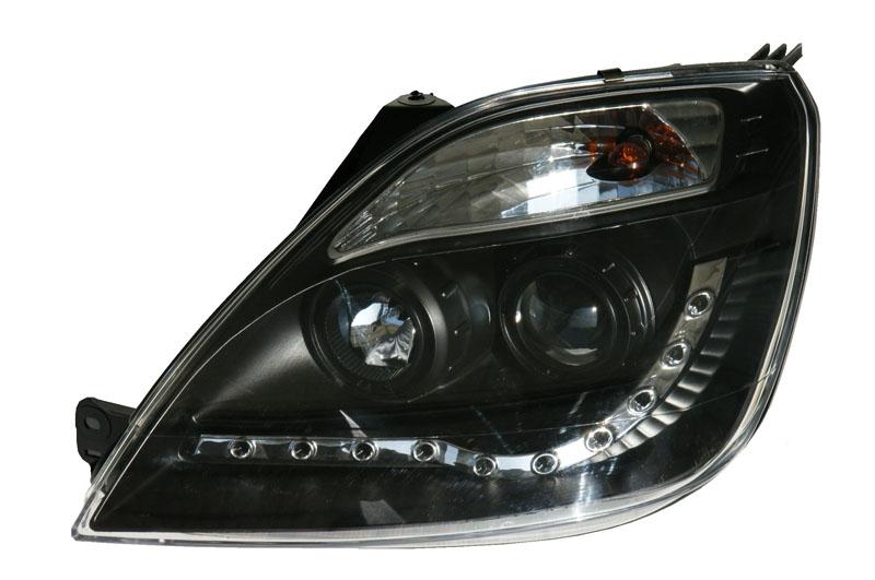 Ford Fiesta Mk6 Black Drl Led Projector Headlights