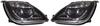 View Item FORD FIESTA MK6 BLACK DRL LED PROJECTOR HEADLIGHTS 02-08
