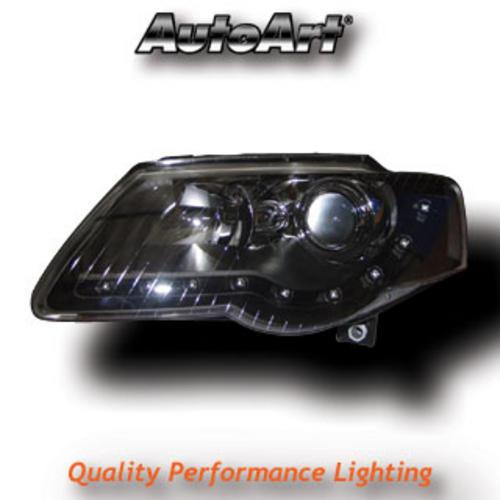 VW Passat 3C (05-10) DRL Style Headlights - Black