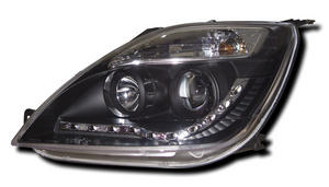 Black DRL-look Devil Eye (Audi R8-style) Headlights to fit: Ford Fiesta Mk 6 (2002 to 2007) Preview