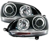 View Item VW Volkswagen Golf MK5 V 04-09 Black PROJECTOR R32 GTi STYLE HEADLIGHTS LHD