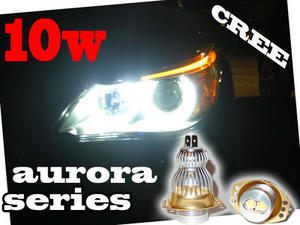 10W CREE Aurora Series Angel eye LED upgrade units 3 SERIES E90 E91 05-08 6000K Preview