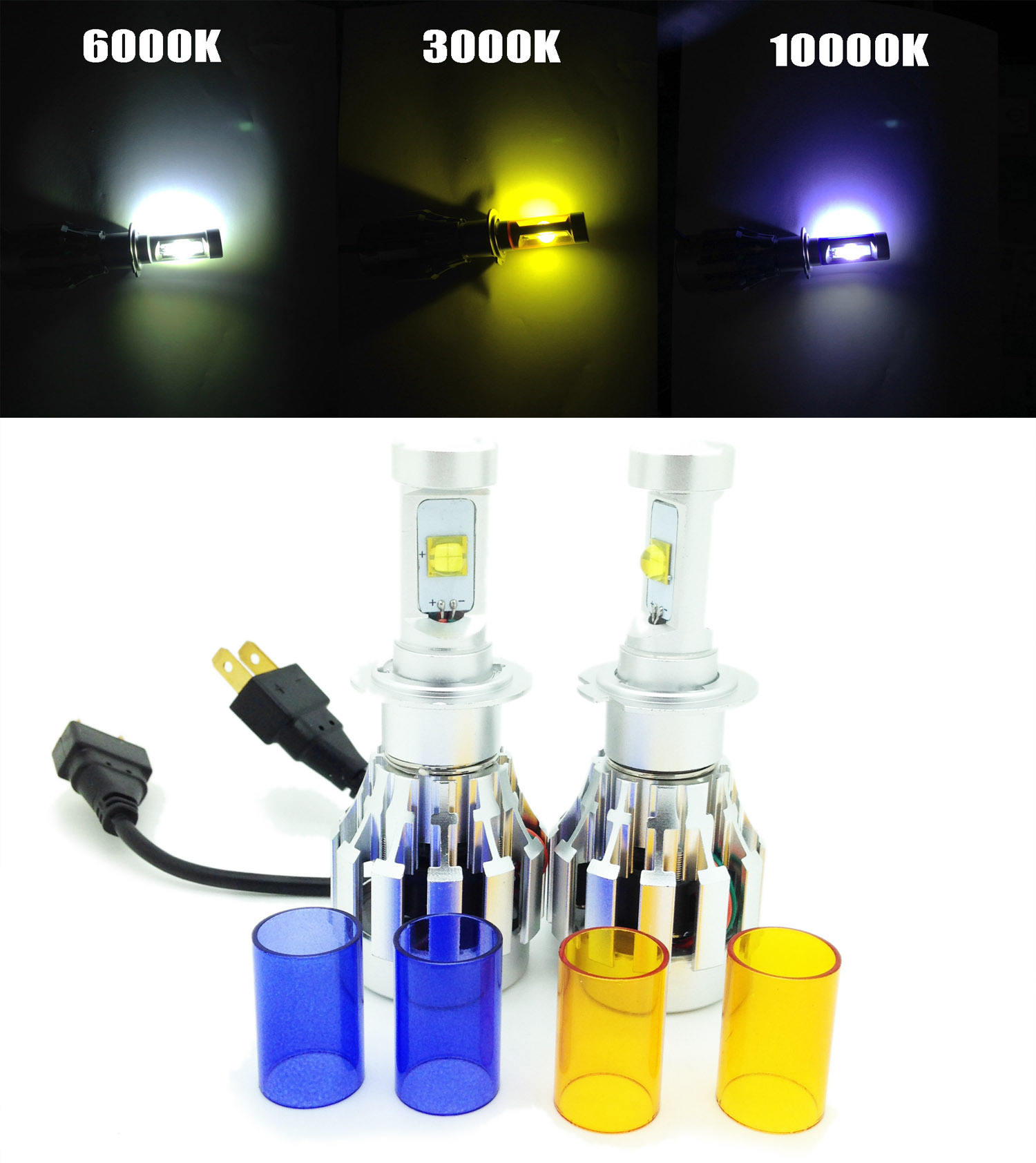h7 cree led headlight bulbs kit lamp spare part 4000lm canbus citroen ds3 2009 ebay. Black Bedroom Furniture Sets. Home Design Ideas