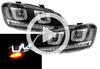 View Item Rhd VW Polo 6R 09-14 Black DRL LED Projector Headlights Dynamic Indicator