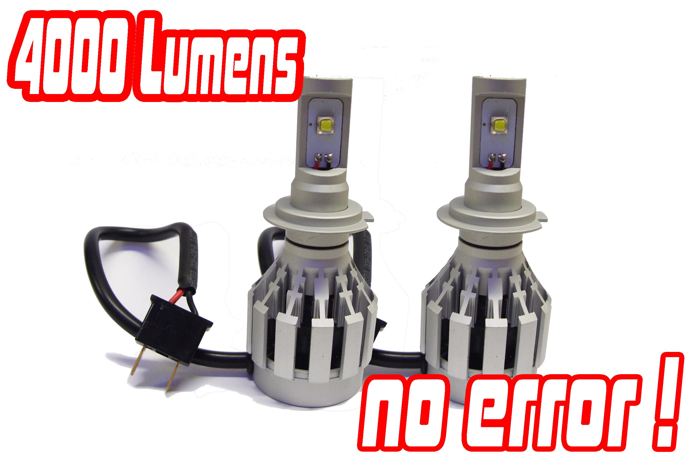 H7 Gen 4 Cree Led Headlight Bulbs Conversion Kit Xenon Hid
