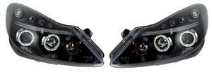 Vauxhall Corsa D 06-11 Black Angel Eyes Headlights