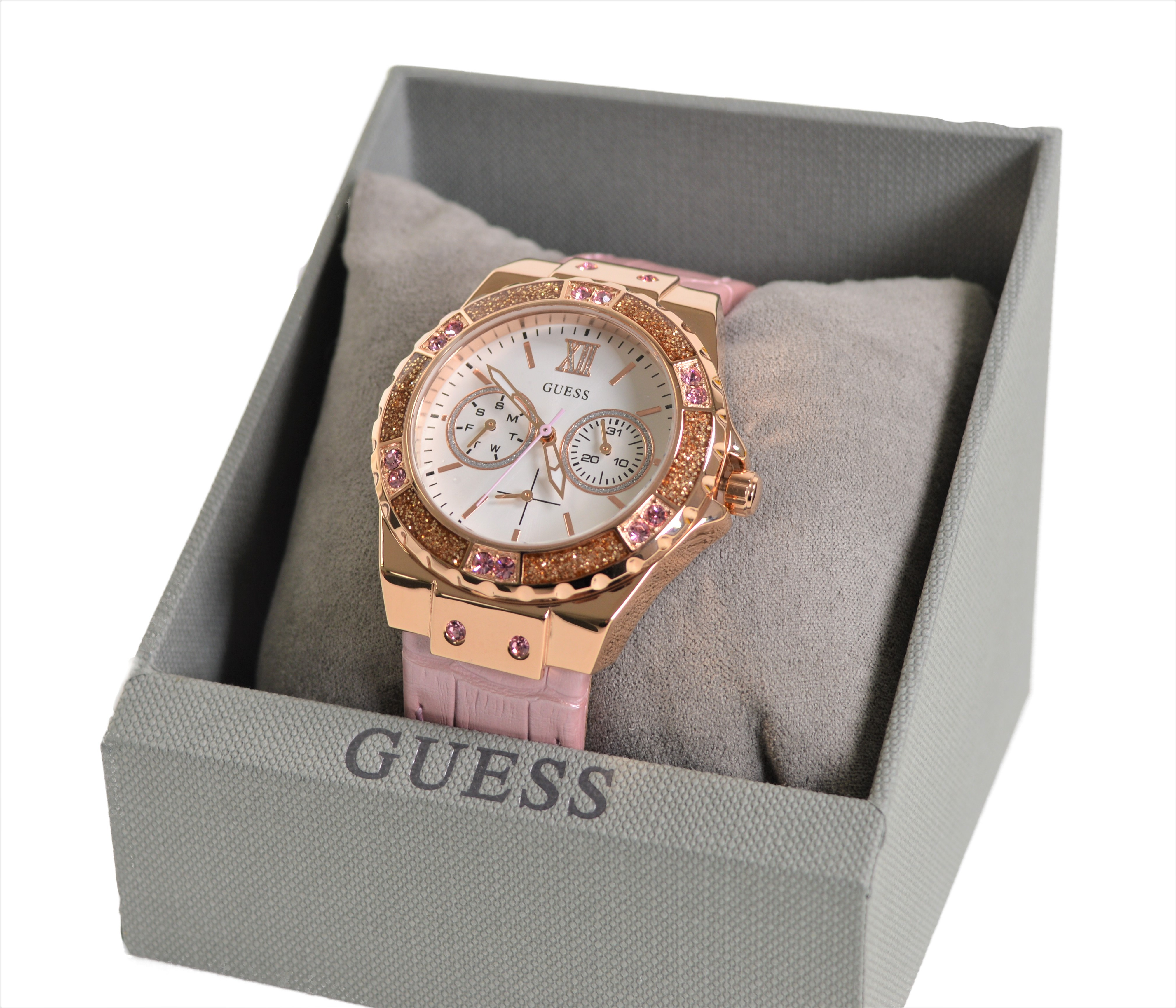 Guess Ladies Watch W0775L3 - Rose Gold Plated with Crystal ...