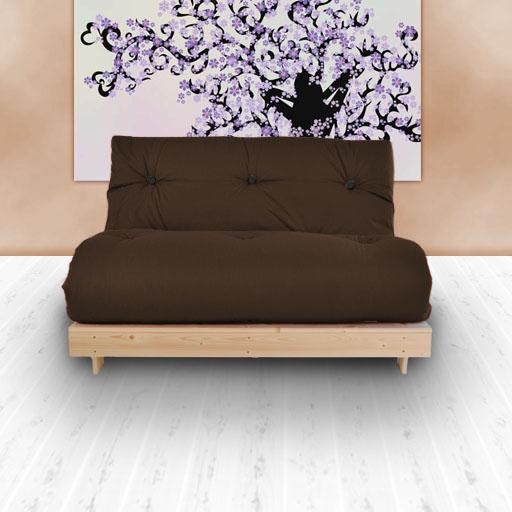 sofabett sofa futon 2 sitzer luxus baumwolle twill matratze g stesofa ebay. Black Bedroom Furniture Sets. Home Design Ideas