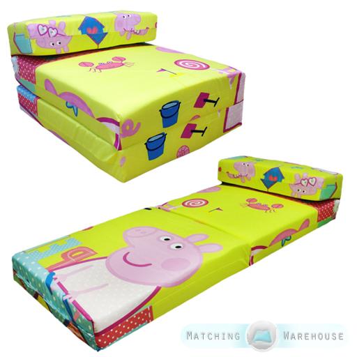 children 39 s tv character fold out z bed foam chair futon guest sleepover mattress. Black Bedroom Furniture Sets. Home Design Ideas