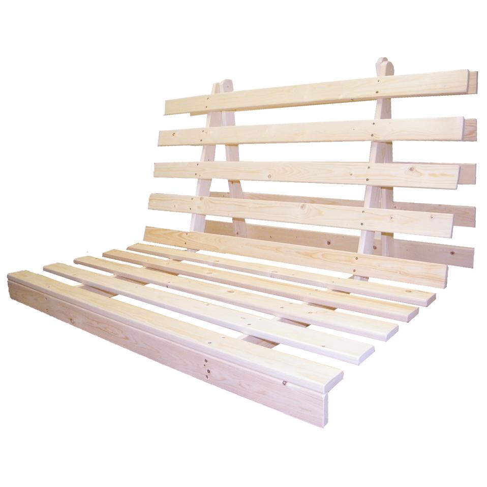 Cadre base en bois pour canap lit futon 3 tailles for Types of canape bases