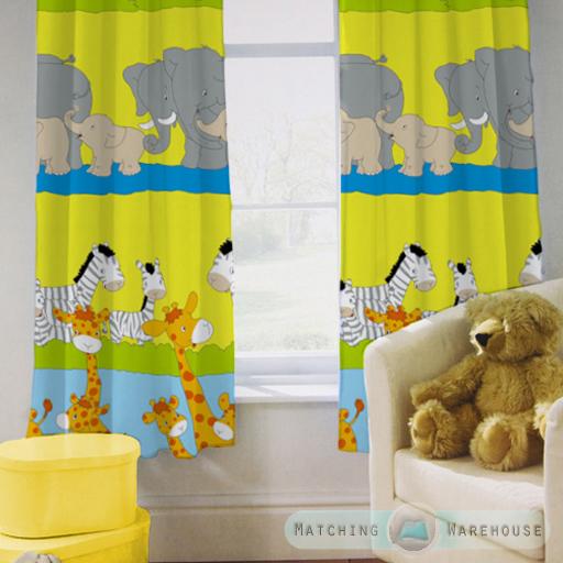 Childrens nursery curtains kids junior tweens tape top for Nursery curtains uk