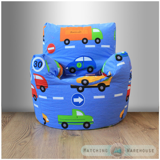 Childrens character filled beanbag kids bean bag chair for Kids tv chair