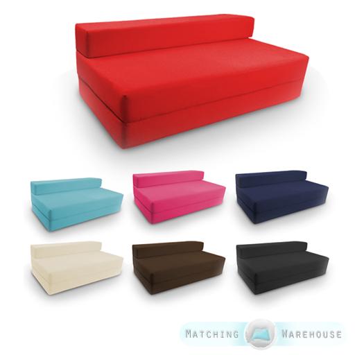Canap chaise pliable coton serg taille double pour h te for Canape pliable