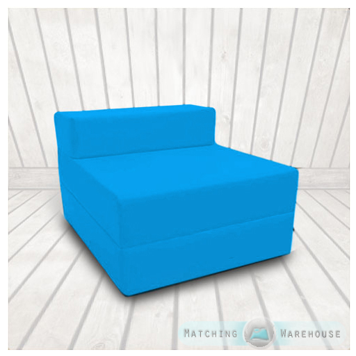 Cotton-Twill-Z-Bed-Single-Size-Fold-Out-Chairbed-Chair-Foam-Folding-Guest-Sofa