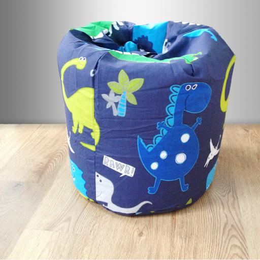 Kinder Sitzsack Dinosaurier Blau Jungen Schlafzimmer Möbel Dino ...