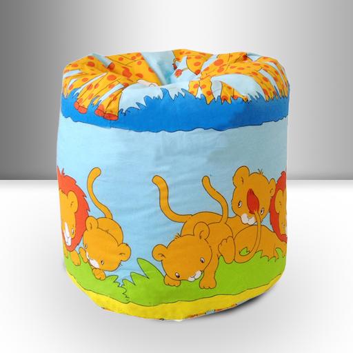 Children-039-s-Bean-Bag-Savannah-Animals-Kids-Bedroom-Furniture-Seating-Beanbag-New