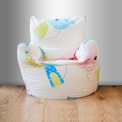 Children s Beanbag Chair Cat Nap Kittens Kids Bedroom