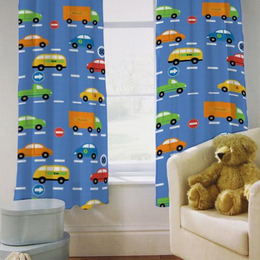 kinder vorh nge traffic express jungen autos 66 von 54. Black Bedroom Furniture Sets. Home Design Ideas