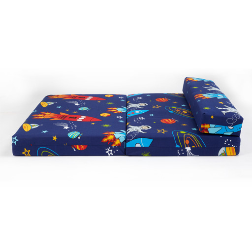 double kids folding guest bed traffic express boys cars sofabed sofa mattress ebay. Black Bedroom Furniture Sets. Home Design Ideas