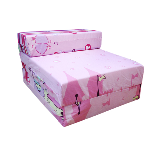 Children s Z Bed Fold Out Chair Princess Castle Girls Mattress Sleepover
