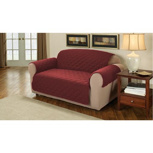 wein gesteppt baumwolle 3 sitzer sofa m bel besch tzer deckel husse berwurf ebay. Black Bedroom Furniture Sets. Home Design Ideas
