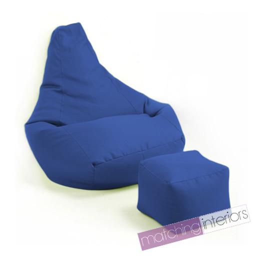 blau gamer sitzsack schemel sitzsack gaming sessel sitz gartenm bel ebay. Black Bedroom Furniture Sets. Home Design Ideas