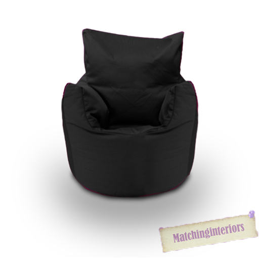 Black Cotton Children S Kids Toddlers Filled Beanchair