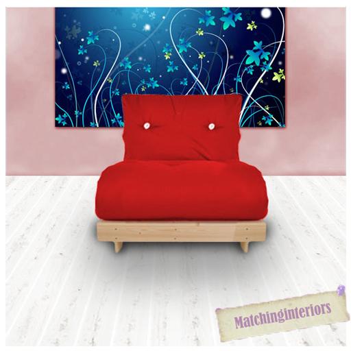 rouge budget simple futon coton matelas 1 place canap lit. Black Bedroom Furniture Sets. Home Design Ideas