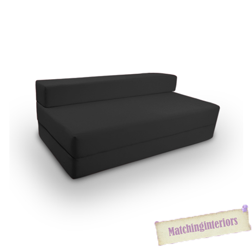 schwarz budget baumwolle klappstuhl block gef llt doppel z. Black Bedroom Furniture Sets. Home Design Ideas