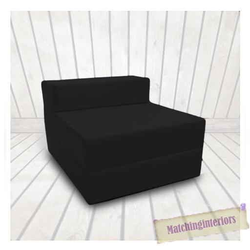 noir budget bloc rempli coton repli lit z pliable matelas canap chaise lit ebay. Black Bedroom Furniture Sets. Home Design Ideas