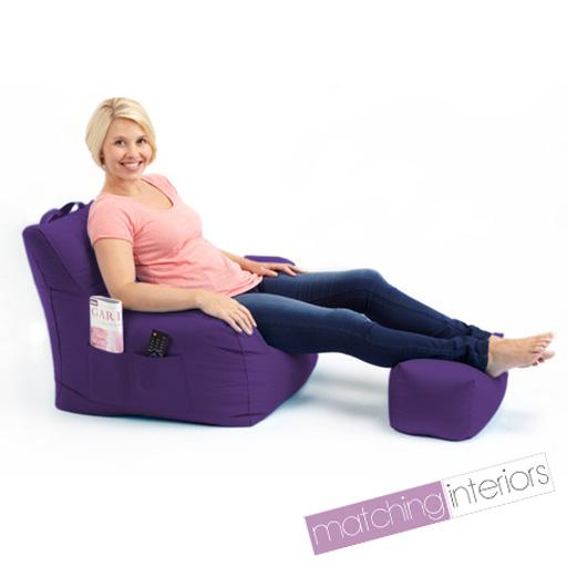 lila budget sitzsack sessel schemel gamer sessel garten. Black Bedroom Furniture Sets. Home Design Ideas