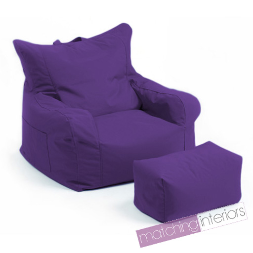 violet budget pouf poire chaise echelle tabouret gamer jeu fauteuil jardin pouf ebay. Black Bedroom Furniture Sets. Home Design Ideas