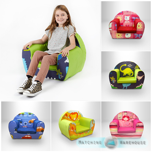 Comfy soft foam chair toddlers armchair seat nursery baby sofa
