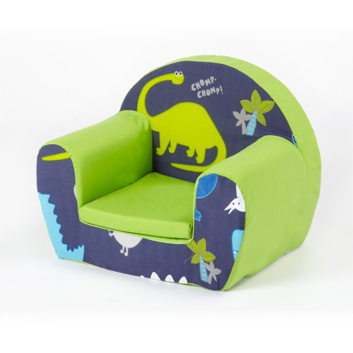 Dinosaurs Blue Childrens Kids Comfy Foam Chair Toddlers