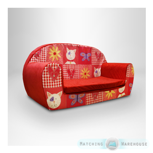 Kids Children S Soft Foam Toddlers Sofa 2 Seater Seat