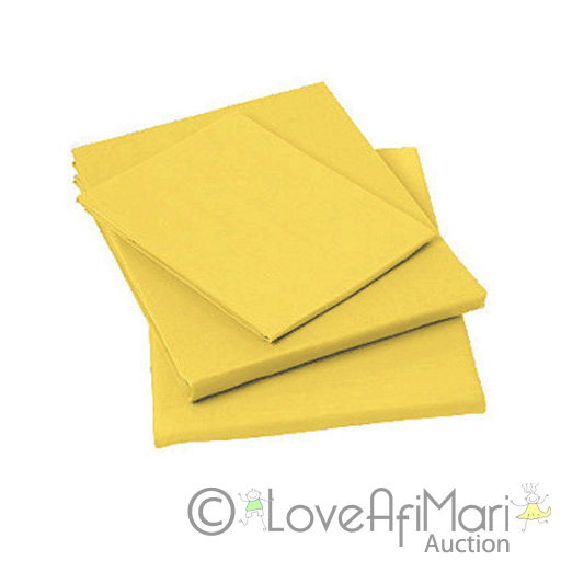 plain dyed lemon yellow king bed fitted sheet 50 50. Black Bedroom Furniture Sets. Home Design Ideas