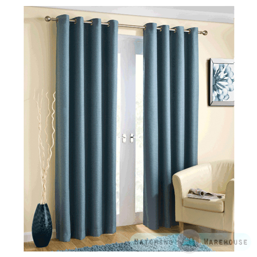 Basket Weave Light Reducing Eyelet Curtains Blockout Thermal Ring ...