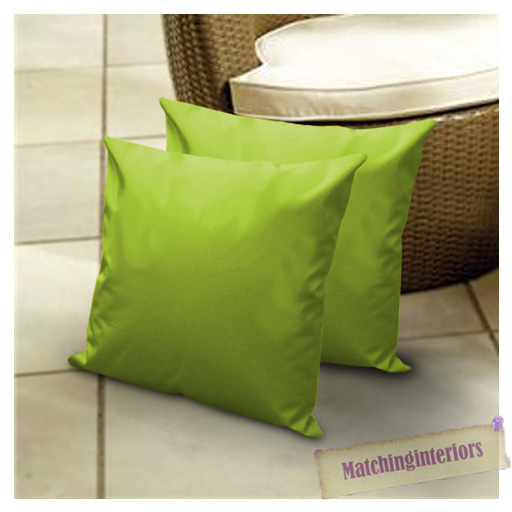 Lime 18 Water Resistant Outdoor Scatter Cushion Covers Filled With Pads