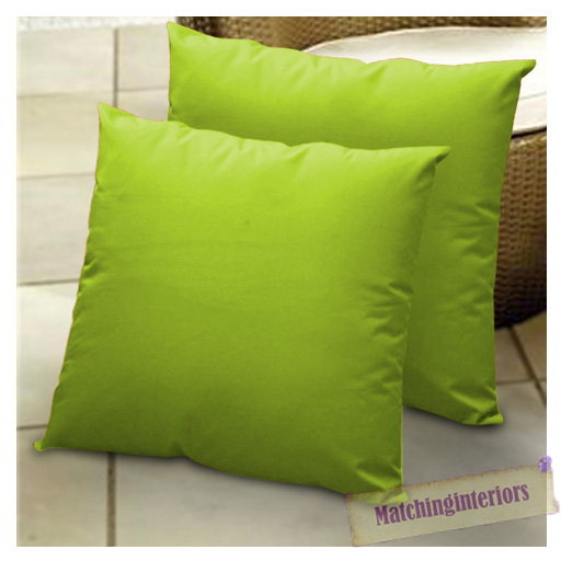 """Lime 24"""" Water Resistant Outdoor Scatter Cushion Covers"""