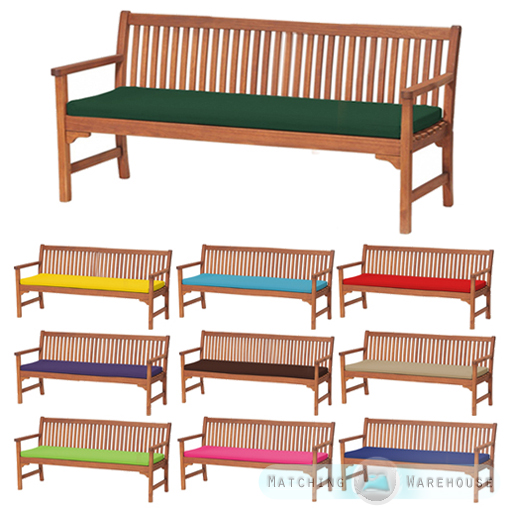 Outdoor Waterproof 4 Seater Bench Swing Seat Cushion Only Garden Furniture Pad Ebay