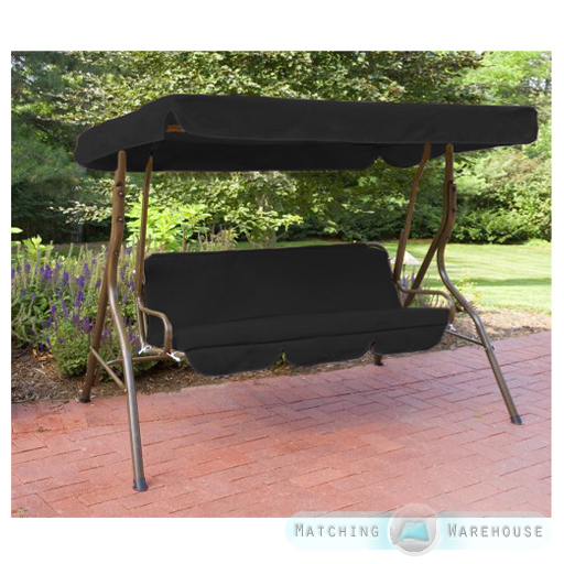 Replacement 3 Seater Swing Seat Canopy Cover And Cushions