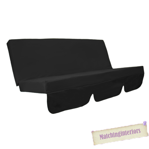 Black Water Resistant Bench Cushion for Outdoor Swing  : GP20G620Black from www.ebay.co.uk size 512 x 512 jpeg 73kB